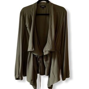 Torrid drape utility jacket army green plus size 1